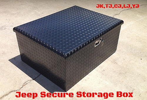 jeep secure storage box tj lj jk yj. Black Bedroom Furniture Sets. Home Design Ideas