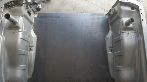 JK rear floor weld in panel